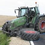 Tracteur mal en point